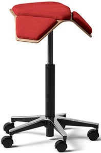Fully Iloa saddle chair with red seat