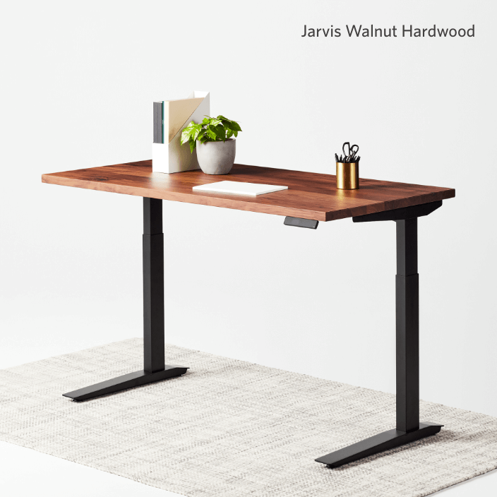 Jarvis Walnut Hardwood standing desk
