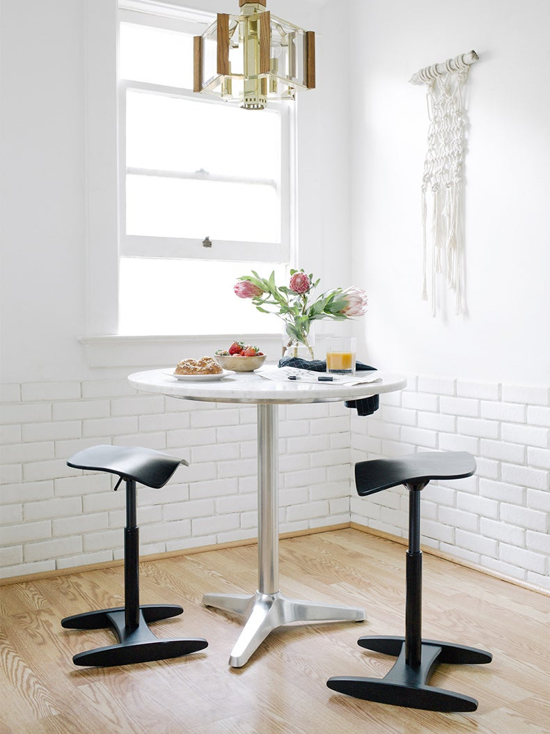 Fully kichen nook with Tic Toc active stools at the kitchen table