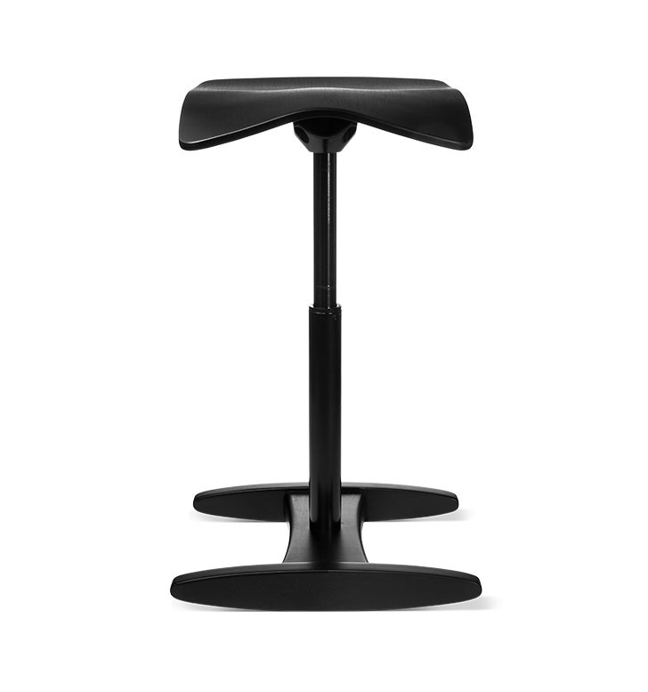 Fully black Tic Toc active chair against white background