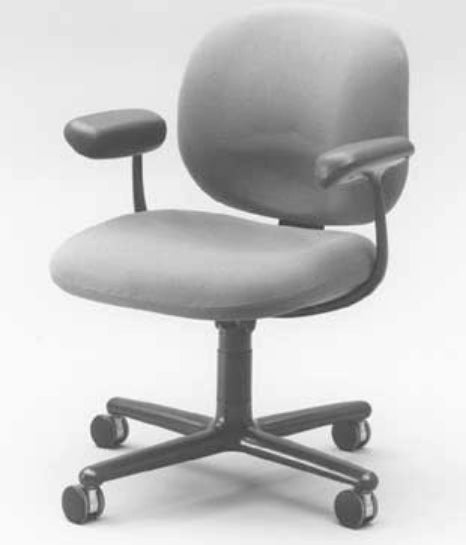 office chair grey with casters