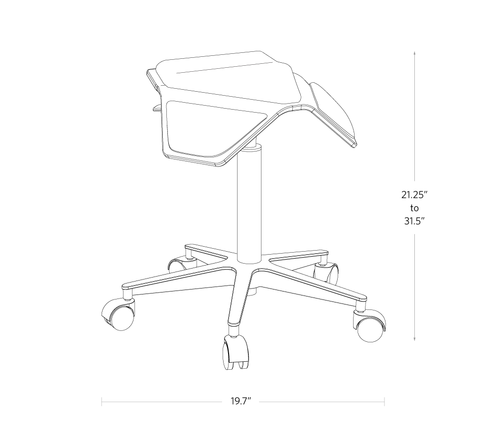 fully iloa saddle chair dimensions