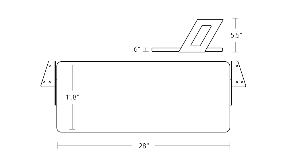 fully jarvis fixed keyboard tray dimensions