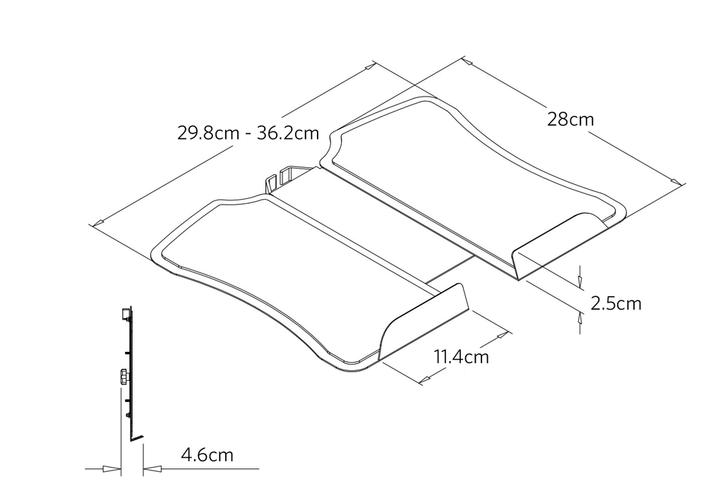 fully jarvis laptop arm dimensions laptop tray