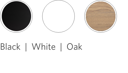 spacestation black and designer white and oak laminate options