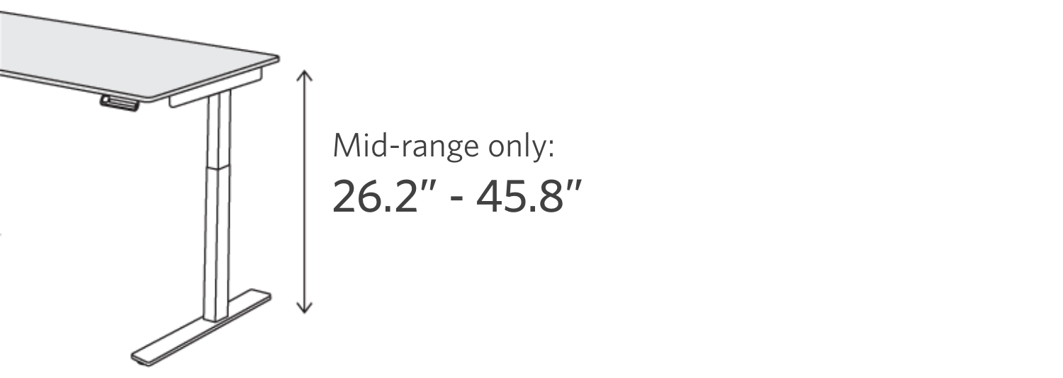 fully remi height range mid range only 26.2 inches to 45.8 inches