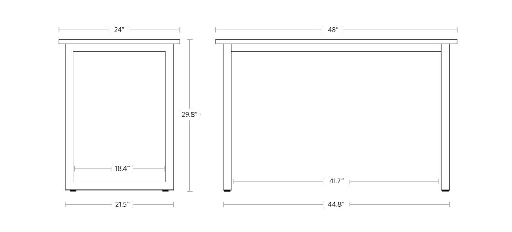 fully jarvis side table dimensions